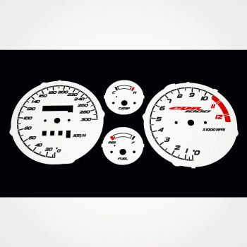 Honda CBR 1000 F SC24 1989-1991 KM/H White - 1