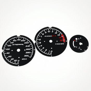 Honda CBR 600 F3 Black KM/H Gauge Faces