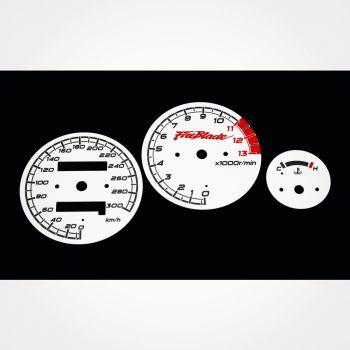 Honda CBR 900 RR Fireblade 919 SC33 1996-1997 KM/H White - 1