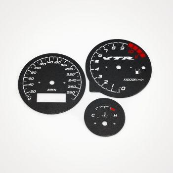 Honda VTR 1000 F 1997-2000 KM/H Black - 1