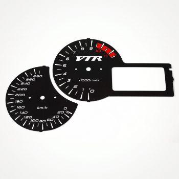 Honda VTR 1000 F 2001-2005 KM/H Black - 1