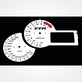 Honda VTR 1000 F 2001-2005 KM/H White - 1