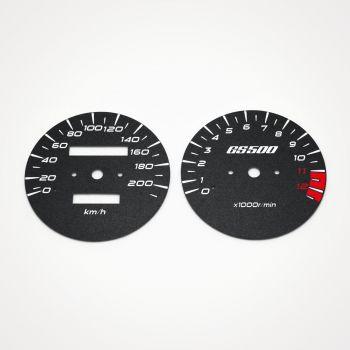 Suzuki GS 500 E 1988-2004 KM/H Black - 1