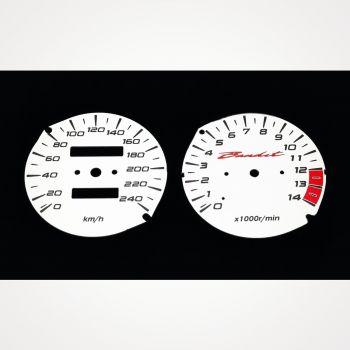Suzuki GSF 600 Bandit 1995-1999 KM/H White - 1