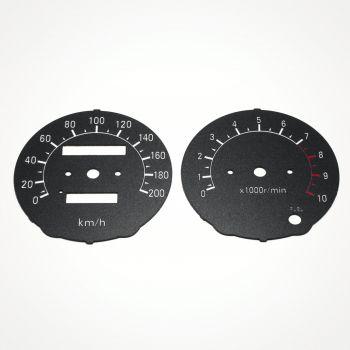 Honda CBR 600 F2 Black KM/H Gauge Faces