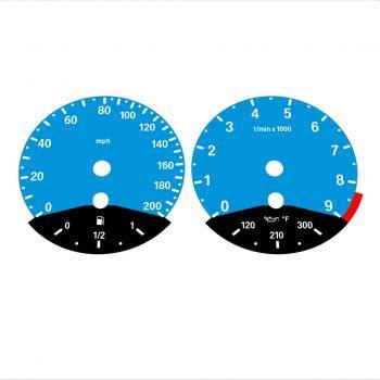 BMW E90 E92 M3 Blue - Black Bottom - 1