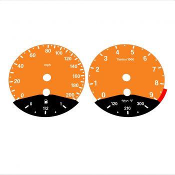 BMW E90 E92 M3 Orange - Black Bottom - 1