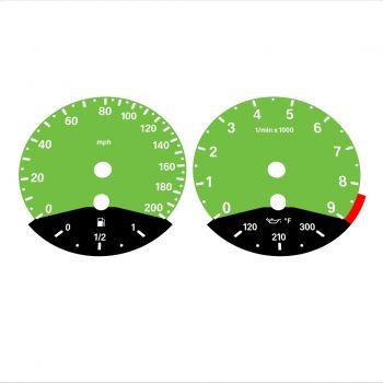 BMW E90 E92 M3 Green - Black Bottom - 1