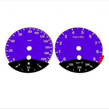 BMW E90 E92 M3 Purple - Black Bottom - 1