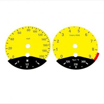 BMW E90 E92 M3 Yellow - Black Bottom - 1