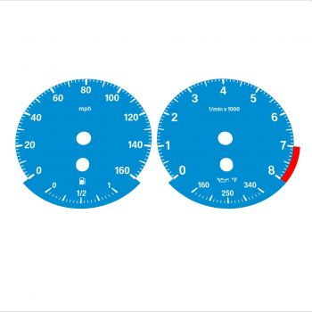 BMW E90 E92 335i 160 MPH Blue - Standard - 1