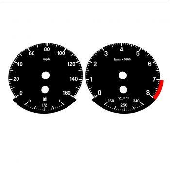 BMW E90 E92 335i 160 MPH Black - Standard - 1