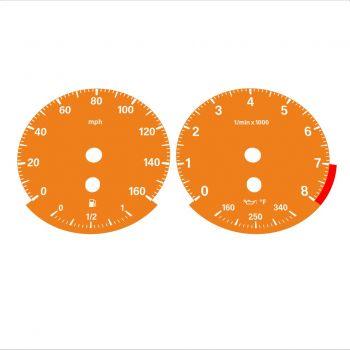 BMW E90 E92 335i 160 MPH Orange - Standard - 1