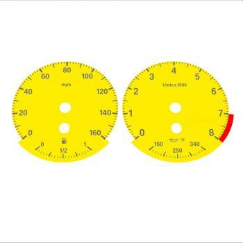 BMW E90 E92 335i 160 MPH Yellow - Standard - 1