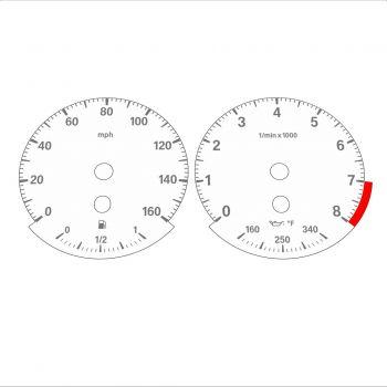 BMW E90 E92 335i 160 MPH White - Standard - 1