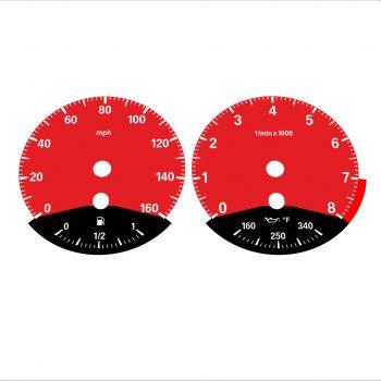BMW E90 E92 335i 160 MPH Red - Black Bottom - 1