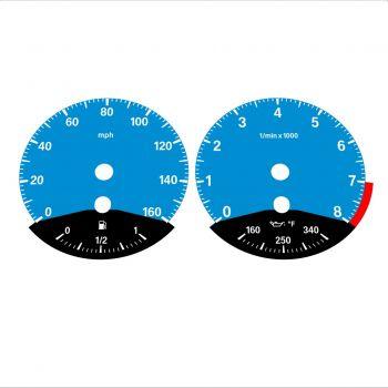BMW E90 E92 335i 160 MPH Blue - Black Bottom - 1