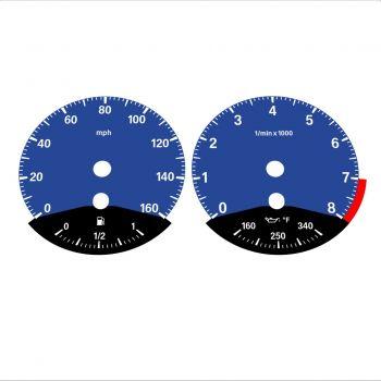 BMW E90 E92 335i 160 MPH Dark Blue - Black Bottom - 1