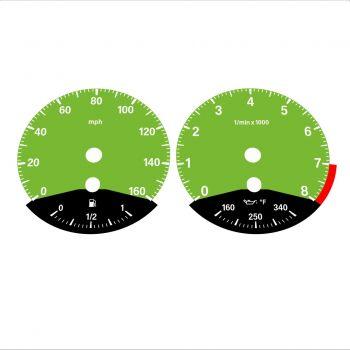BMW E90 E92 335i 160 MPH Green - Black Bottom - 1