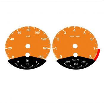 BMW E90 E92 335i 160 MPH Orange - Black Bottom - 1