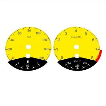 BMW E90 E92 335i 160 MPH Yellow - Black Bottom - 1