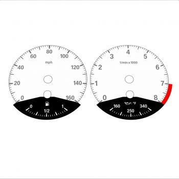 BMW E90 E92 335i 160 MPH White - Black Bottom - 1