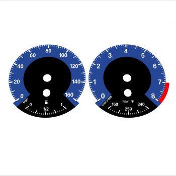 BMW E90 E92 335i 160 MPH Dark Blue - 1M Style - 1