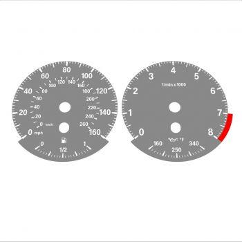 BMW E90 E92 335i 160 MPH+km/h Gray - Standard - 1