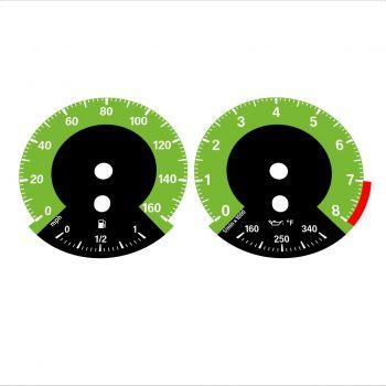 BMW E90 E92 335i 160 MPH Green - 1M Style - 1
