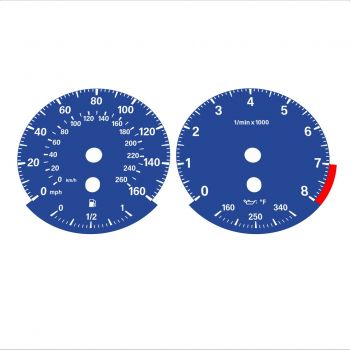 BMW E90 E92 335i 160 MPH+km/h Dark Blue - Standard - 1