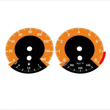 BMW E90 E92 335i 160 MPH Orange - 1M Style - 1