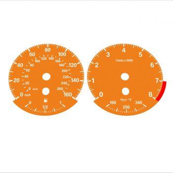 BMW E90 E92 335i 160 MPH+km/h Orange - Standard - 1