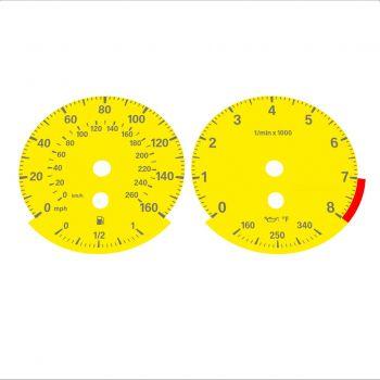 BMW E90 E92 335i 160 MPH+km/h Yellow - Standard - 1