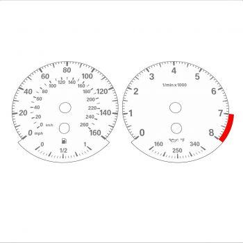 BMW E90 E92 335i 160 MPH+km/h White - Standard - 1