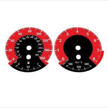 BMW E90 E92 335i 160 MPH+km/h Red - 1M Style - 1