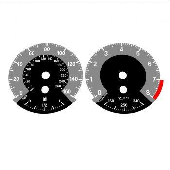 BMW E90 E92 335i 160 MPH+km/h Gray - 1M Style - 1