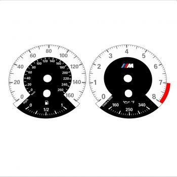 BMW E90 E92 335i 160 MPH+km/h White - 1M Style - 1