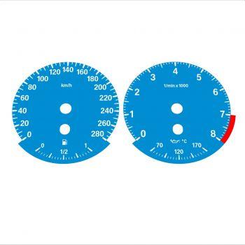 BMW E90 E92 335i 280 KM/H Blue - Standard - 1