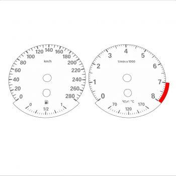 BMW E90 E92 335i 280 KM/H White - Standard - 1