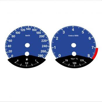 BMW E90 E92 335i 280 KM/H Dark Blue - Black Bottom - 1