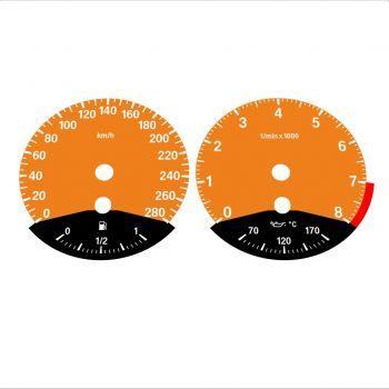 BMW E90 E92 335i 280 KM/H Orange - Black Bottom - 1