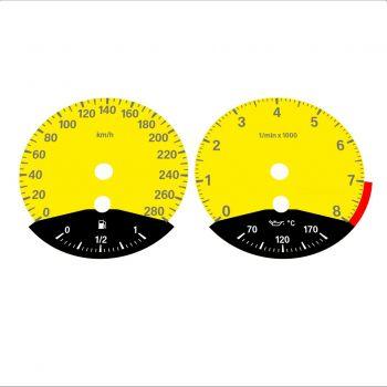BMW E90 E92 335i 280 KM/H Yellow - Black Bottom - 1