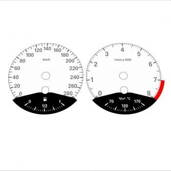 BMW E90 E92 335i 280 KM/H White - Black Bottom - 1
