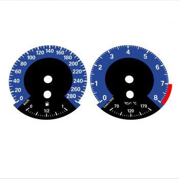 BMW E90 E92 335i 280 KM/H Dark Blue - 1M Style - 1