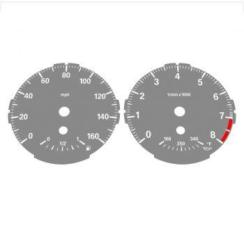 BMW E82 E87 135i 160 MPH Gray - Standard - 1