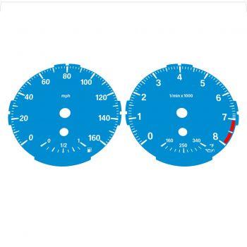 BMW E82 E87 135i 160 MPH Blue - Standard - 1