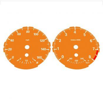 BMW E82 E87 135i 160 MPH Orange - Standard - 1