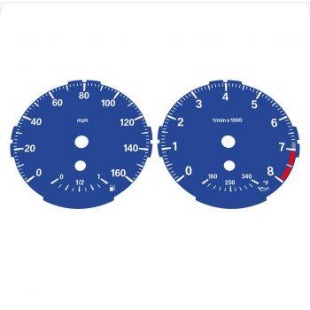 BMW E82 E87 135i 160 MPH Dark Blue - Standard - 1