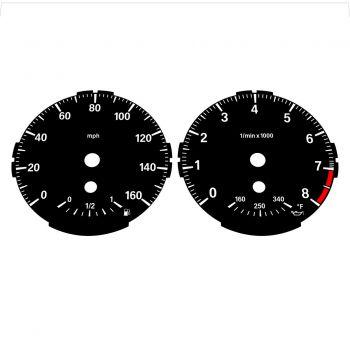 BMW E82 E87 135i 160 MPH Black - Standard - 1