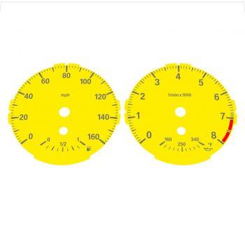 BMW E82 E87 135i 160 MPH Yellow - Standard - 1